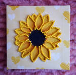 Sunflower Bead Embroidery
