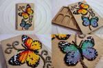 Rainbow Butterfly Bead Tray