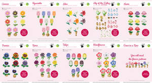 Animal Crossing Flower Collection Xstitch Patterns
