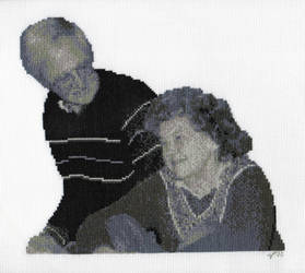 Monochrome Couple Portrait