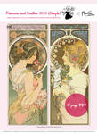 Simple Set Primrose and Feather 1899 (Mucha) by pinkythepink