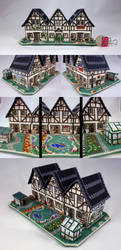 3D Cottage Trio by pinkythepink
