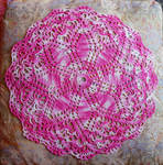 Pink Daisy Doily (Direct)