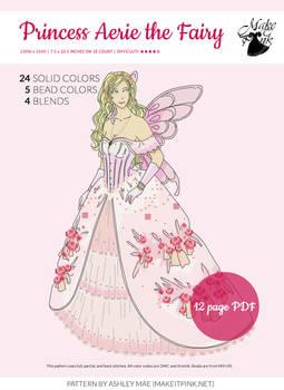 Princess Aerie the Fairy Xstitch Pattern