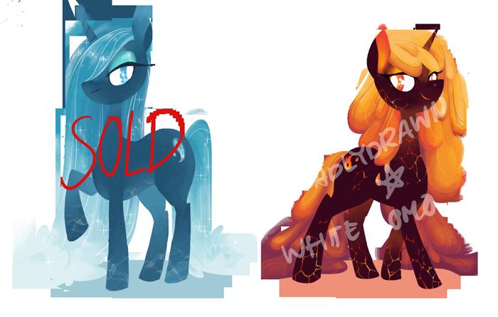 [Adoptable] elemental ponies (CLOSED) by starrypon