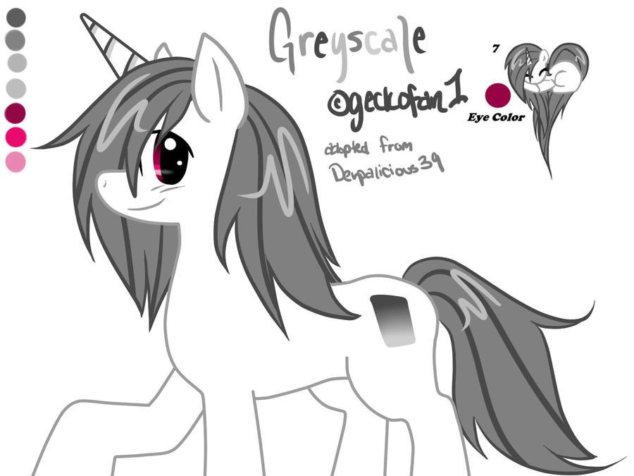 Greyscale New Pony OC~ by geckofan1