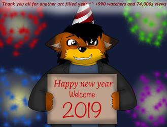 Happy new year 2019 by ZachMFKAttack