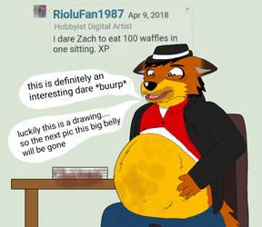 Dare #27 Waffle bellied Fox by ZachMFKAttack