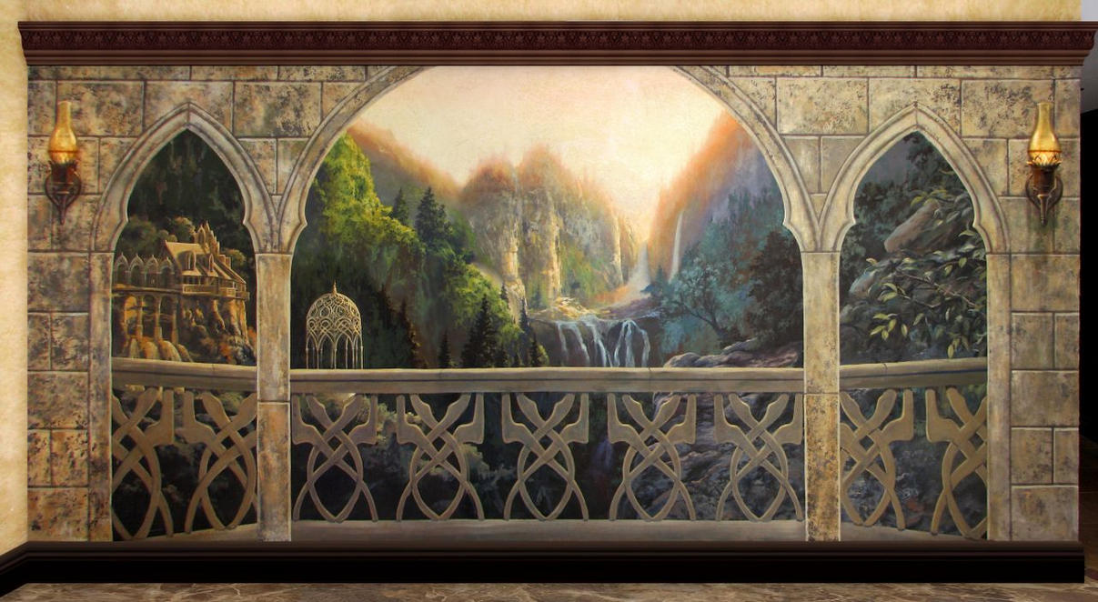 Rivendell balcony by filiusdracul on deviantart for Lord of the rings bedroom ideas