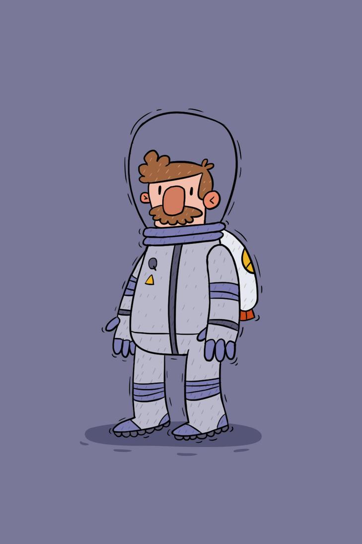 Astronaut Steve by frozeniron21