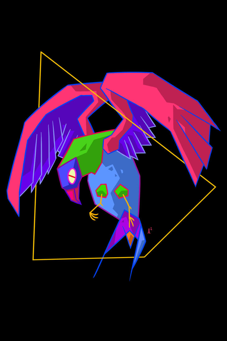 Neon Parrot by frozeniron21