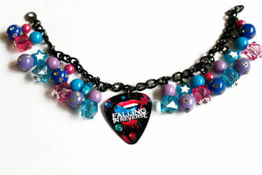 Falling in Reverse Guitar Pick Bracelet by PrincessAnathema13