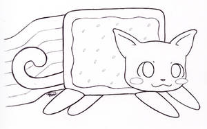 Nyan Cat - Lineart by Kitty-xx