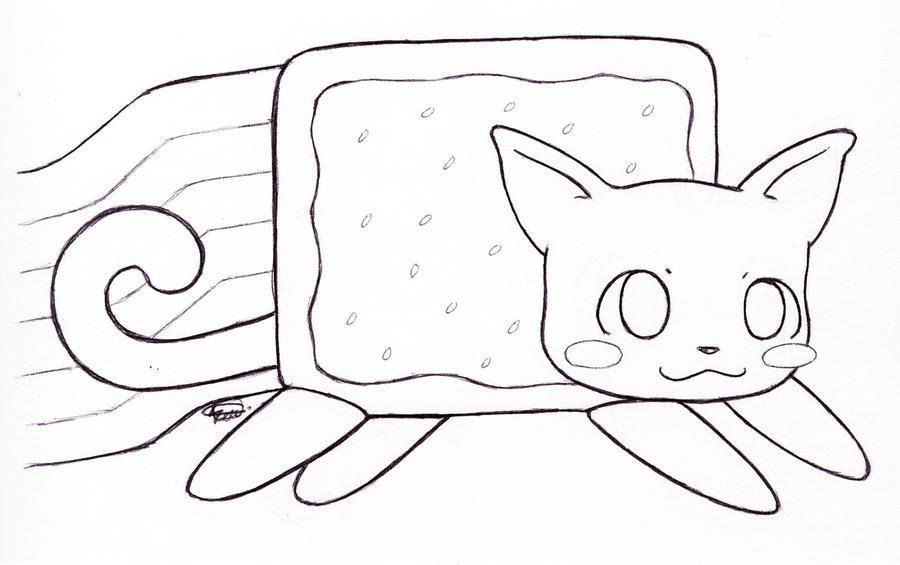 Nyan Cat - Lineart by Kitty-xx on DeviantArt