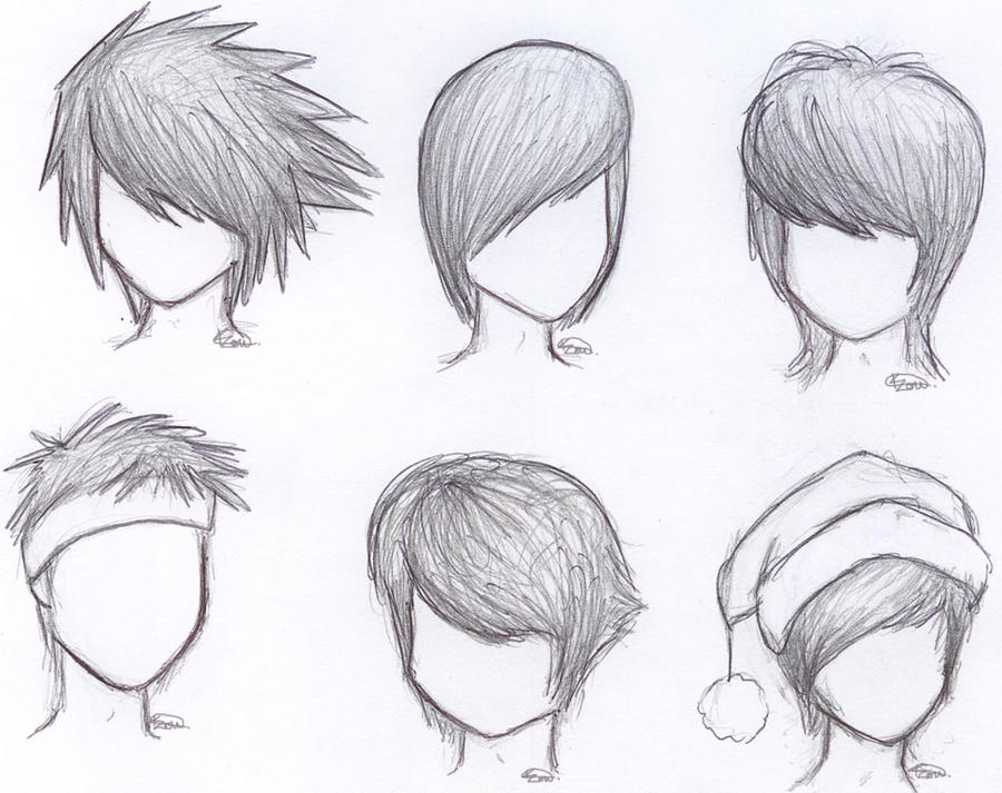 Male Hair Study by Kitty-xx on DeviantArt
