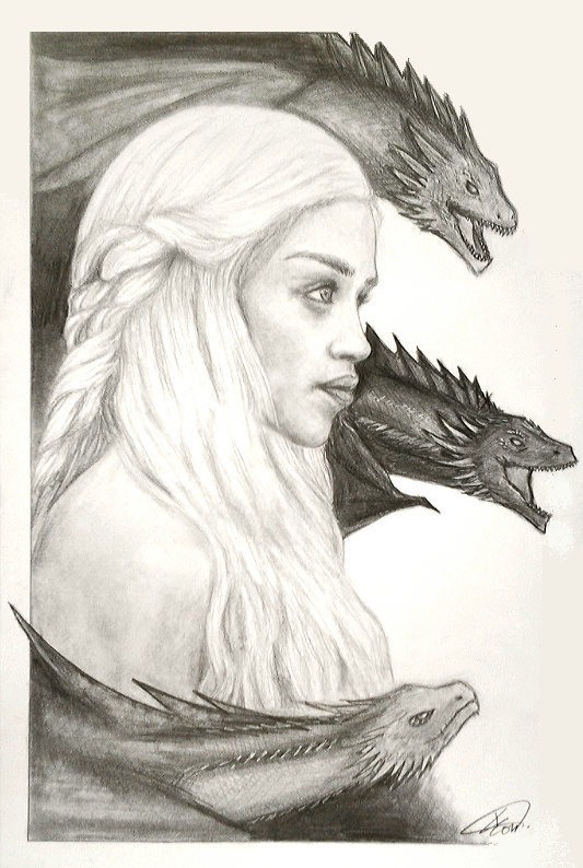 Day 358: Khaleesi by Kitty-xx