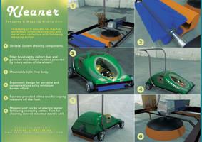 Floor Cleaning Machine Concept.