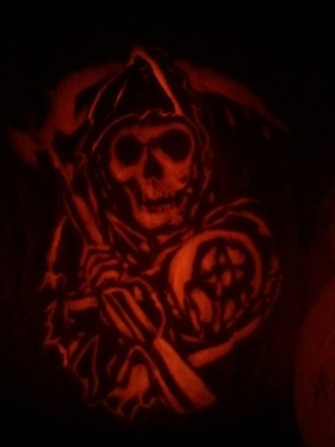 Sons Of Anarchy Pumpkin By Sp4zoid On Deviantart
