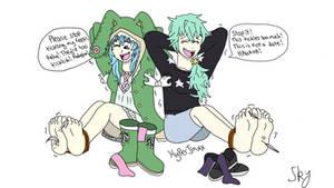 Yoshino and Natsumi's Ticklish Date