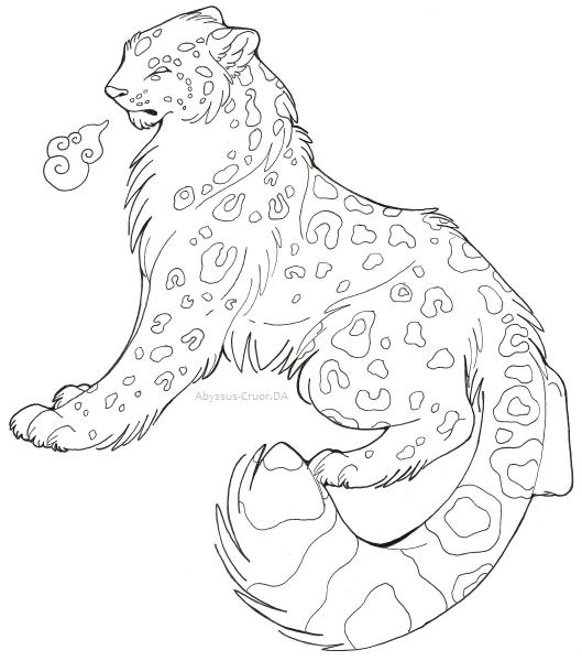 Easy Snow Leopard Face Paint