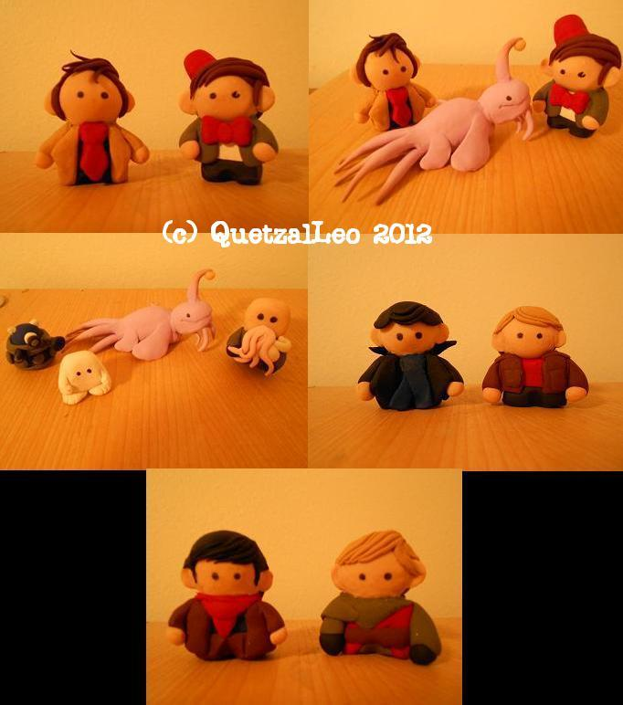 BBC Minis - Doctor Who, Sherlock, and Merlin by QuetzalLeo