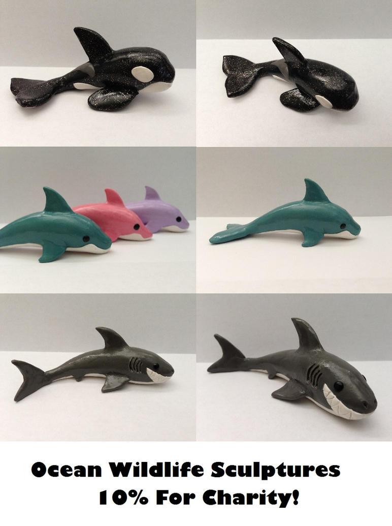 Ocean Sculptures - Support Ocean Conservation by QuetzalLeo
