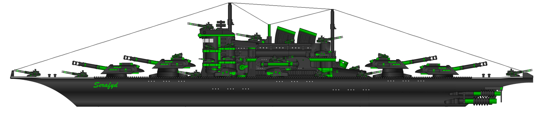 K.M. Serafyd Battleship by HaX0r332