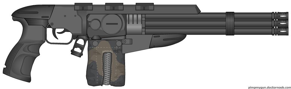 Underbarrel Minigun by HaX0r332