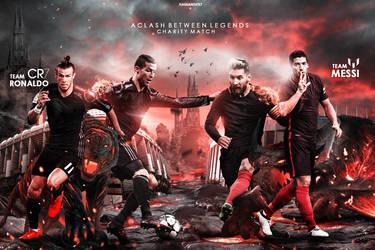 Team Ronaldo VS Team Messi Wallpaper by HassanGFX7