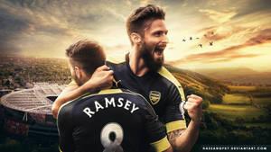 Aaron Ramsey - Olivier Giroud Wallpaper 2016/17