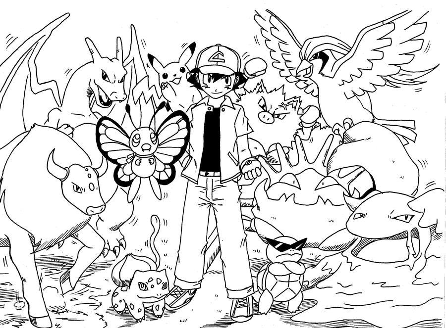 Ash Kanto Team by Rohanite on DeviantArt
