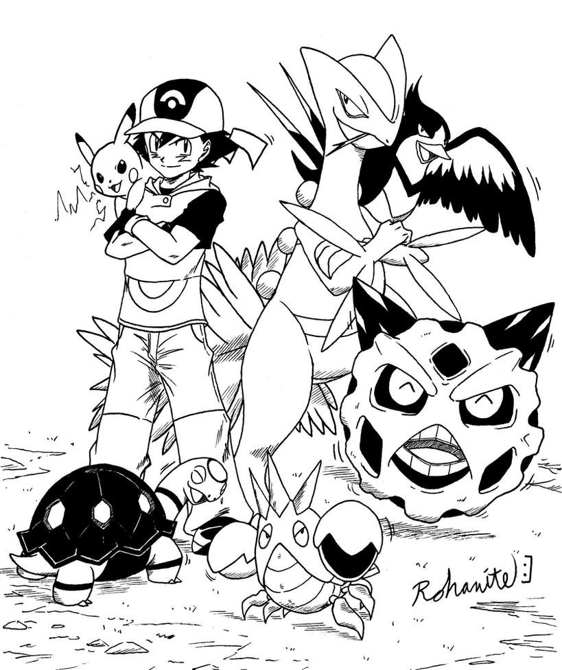 ash hoenn team by rohanite on deviantart