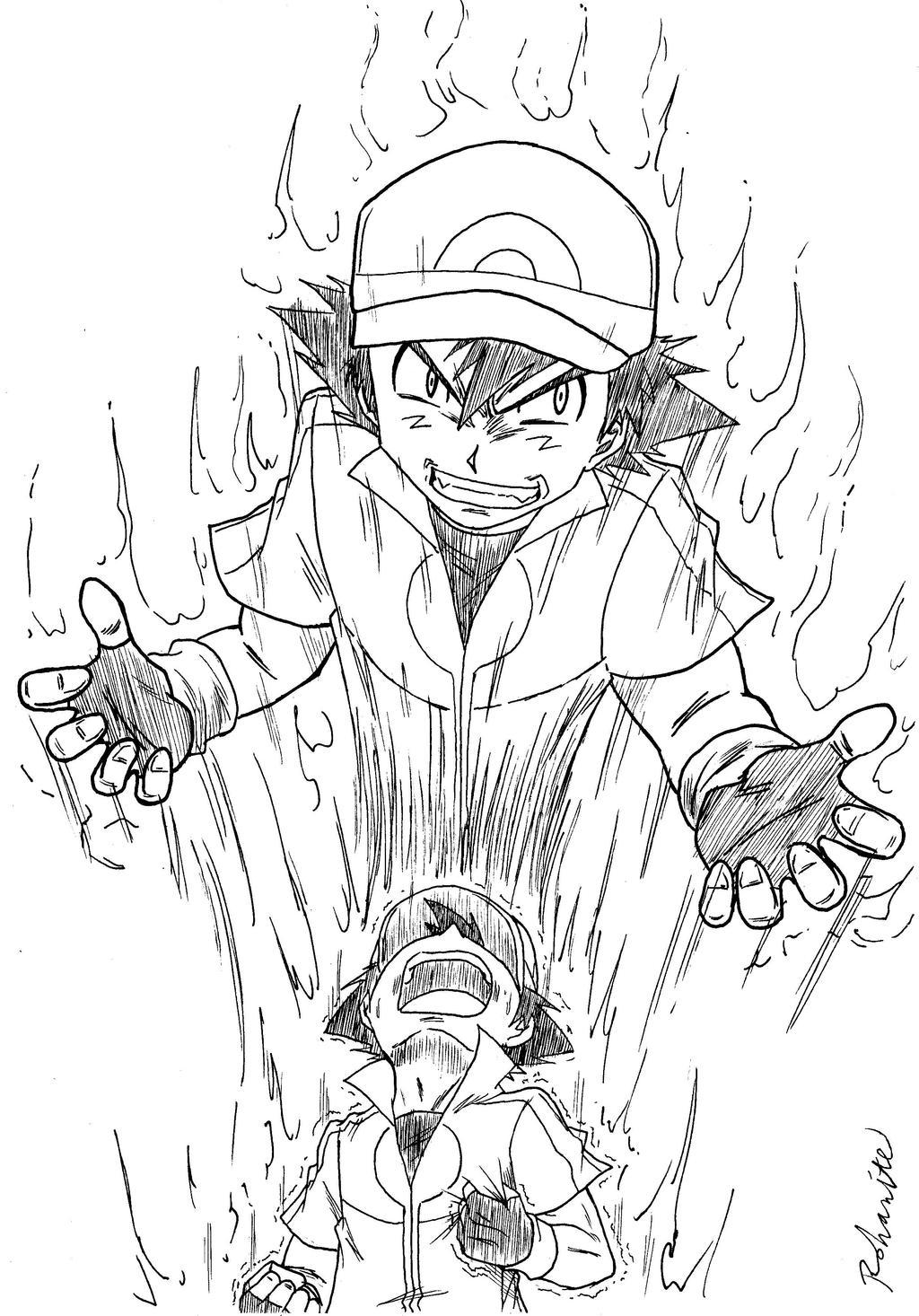 pokemon xy ash possessed by rohanite on deviantart