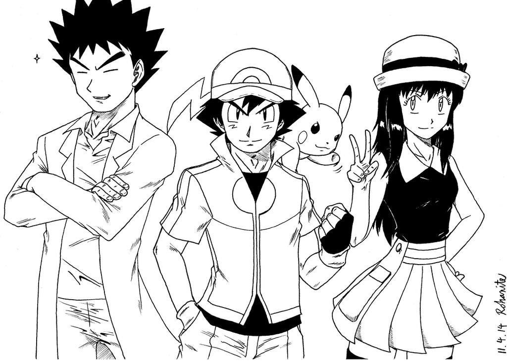 Pokemon Diamond and Pearl Older Main Group by Rohanite