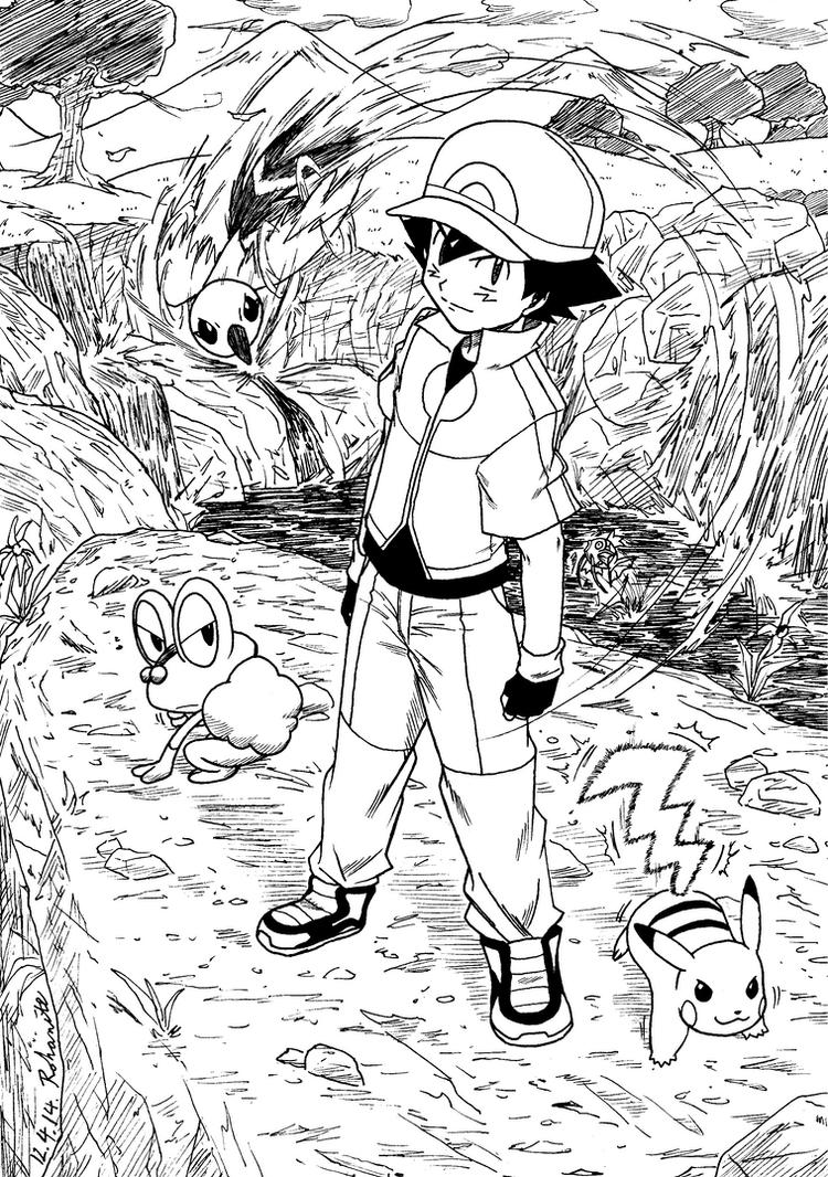 Ash XY Team by Rohanite