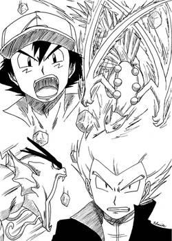 Ash VS Lance - Sceptile VS Gyarados