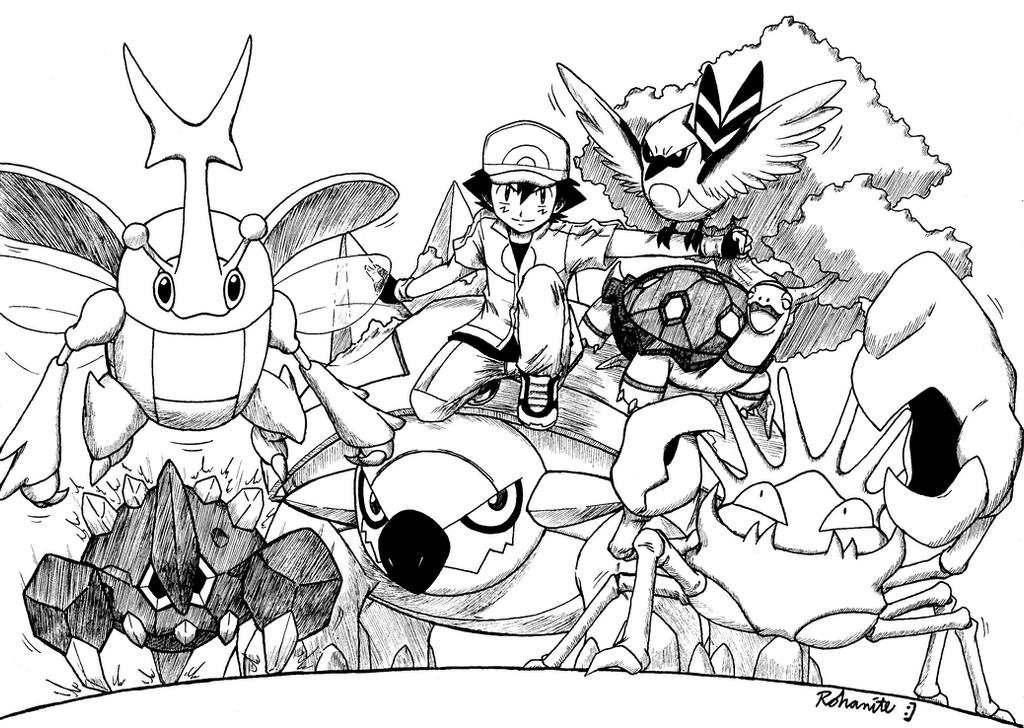 Ash Dream Team by Rohanite on DeviantArt