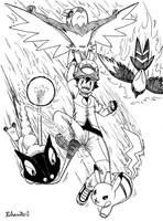Ash XY Team 2 by Rohanite