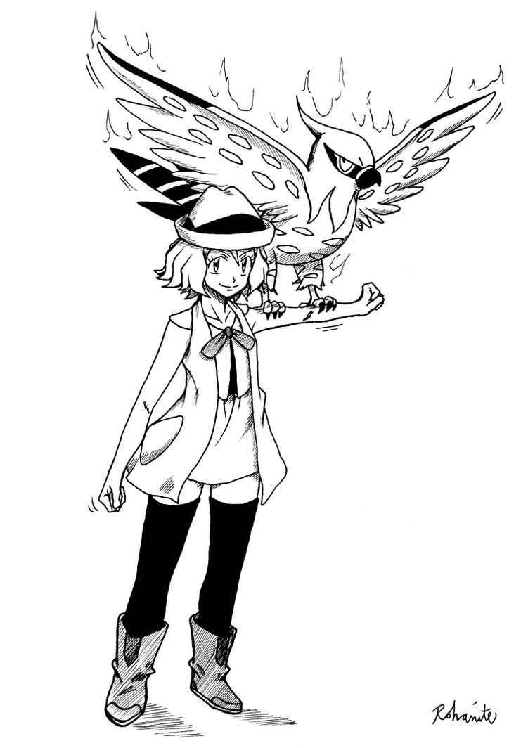 pokemon coloring pages talonflame xy | Serena Pokemon Xy Coloring Pages Coloring Pages