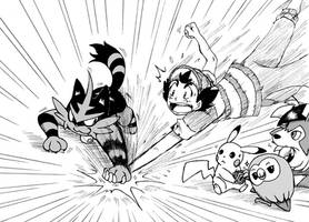 Enter Torracat! - Ash Ketchum Alola Team 2 by Rohanite