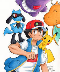 Ash Ketchum World Championship team - RIOLU