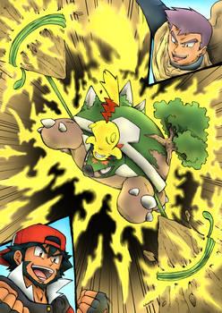 Adult Ash VS Paul - Pikachu VS Torterra