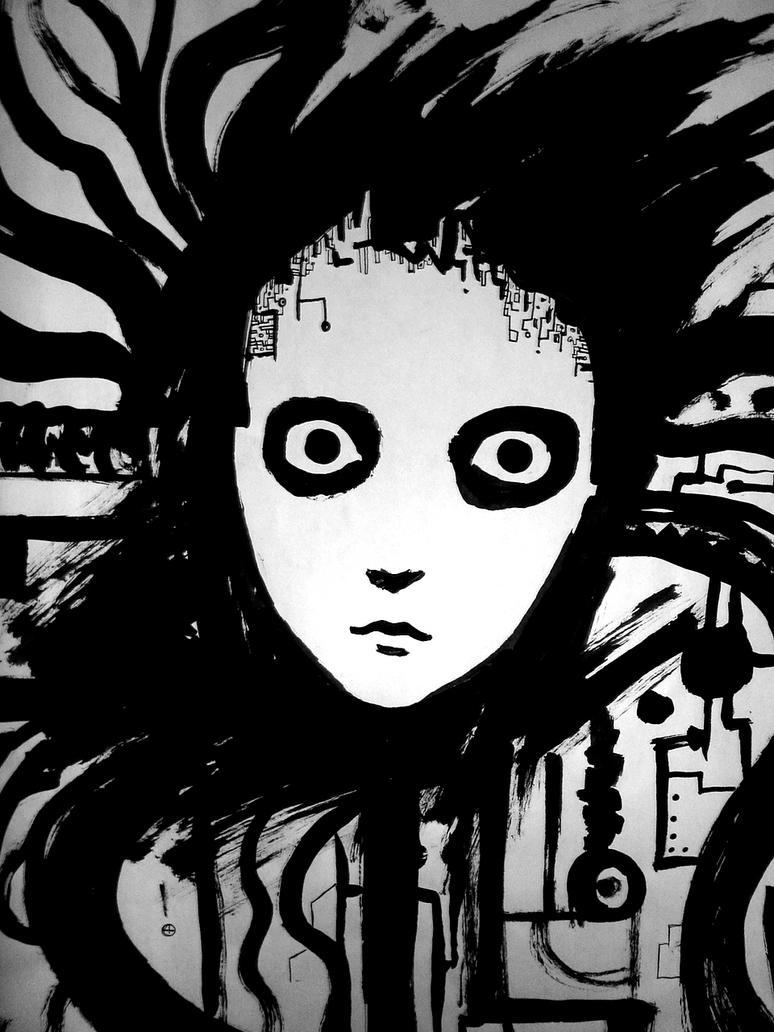 monocrome face by myroboto