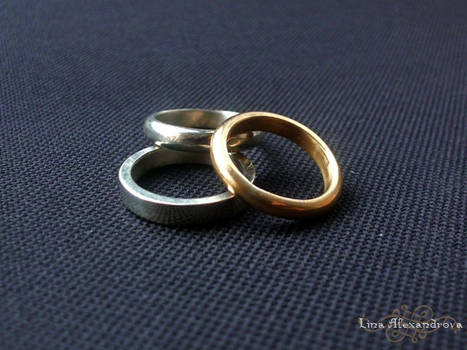 Metalwork: Three Wedding Rings