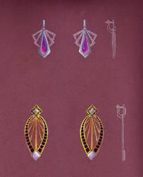 Geometric Earrings Sketch