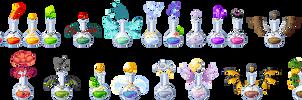 Pixel: Various Potions Commissions