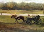 Serov - A woman in a cart1896