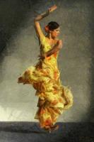 Flamenco dancing by b7000