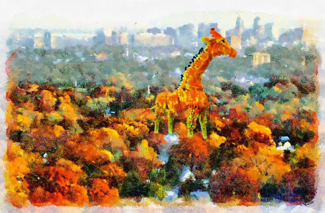 Urban giraffe. by b7000