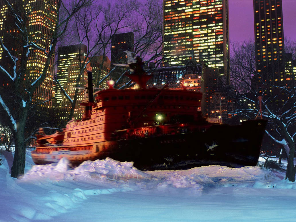 Icebreaker 'Arctica' in Central Park NY by b7000